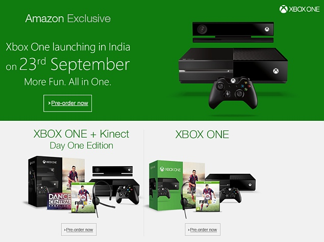 Xbox One to Launch Exclusively on Amazon India; Goes up for Pre-Order