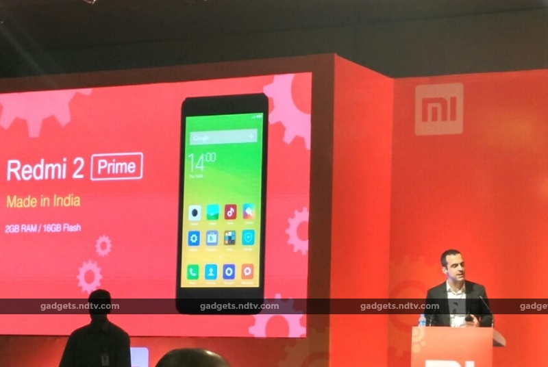 With the Redmi 2 Prime, Xiaomi Starts Making in India