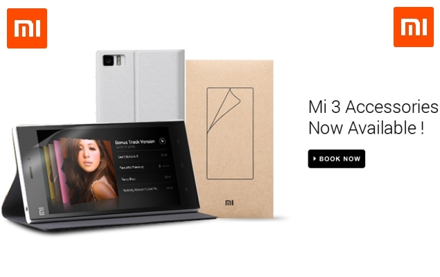 Xiaomi Mi 3 Official Flip Cover, Screen Guard up for Pre-Order on Flipkart