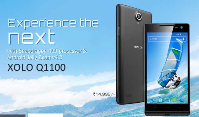 Xolo Q1100 with Android 4.3, Snapdragon 400 processor launched at Rs. 14,999