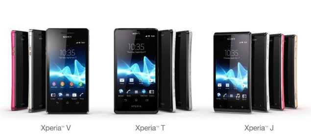 Sony releases Xperia T, Xperia J, Xperia V Android 4.0 smartphones