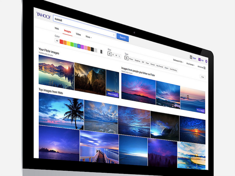 Yahoo Now Shows Your Flickr Images in Search Results
