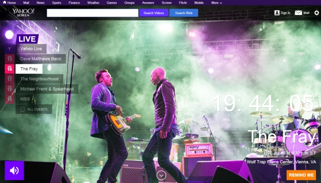 Yahoo's Comeback Hopes for Internet Stage Are Pinned on Live Music