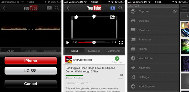 YouTube for iOS updated with Smart TV, Xbox, PS3 pairing and