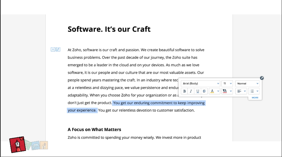 Zoho Takes on Google Docs With Revamped Word Processor