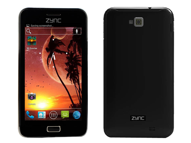 5-inch Zync Cloud Z5 now shipping with dual-core processor, Android 4.0 for Rs. 11,990