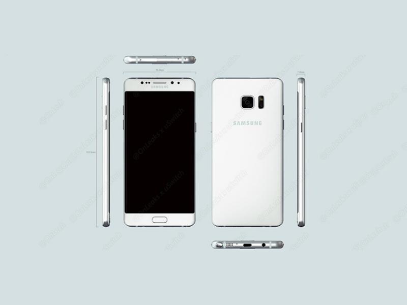 Samsung Galaxy Note 6 Leaks Tip Design, Iris Scanner, and USB Type-C Port