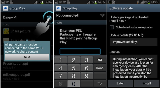 Samsung Galaxy Grand software update adds Galaxy S4's Group Play feature