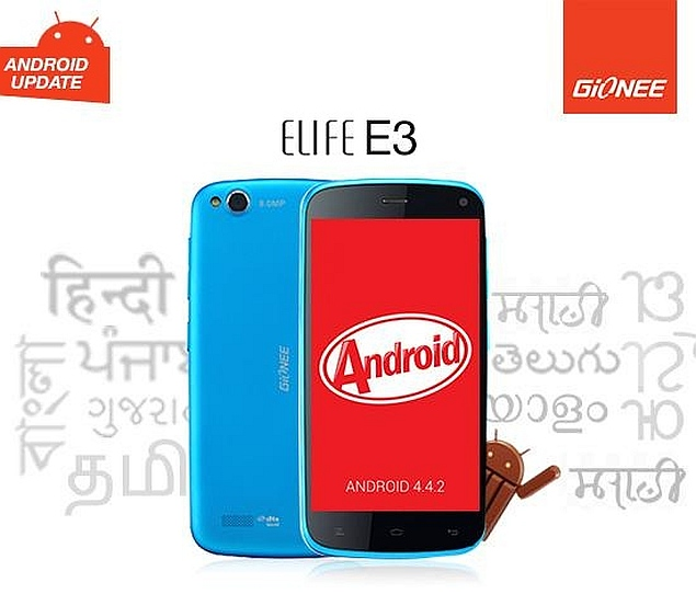 Gionee Makes Android 4.4.2 KitKat Update Available for Elife E3