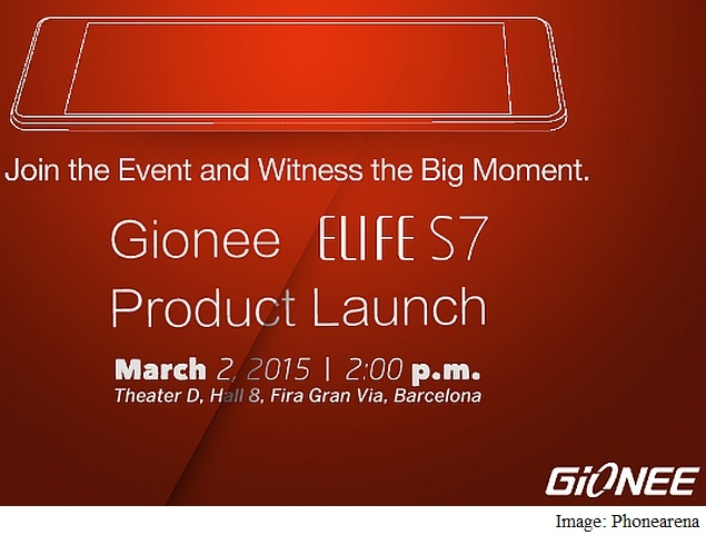 Gionee Elife S7 Set to Launch at Pre-MWC 2015 Event on March 2