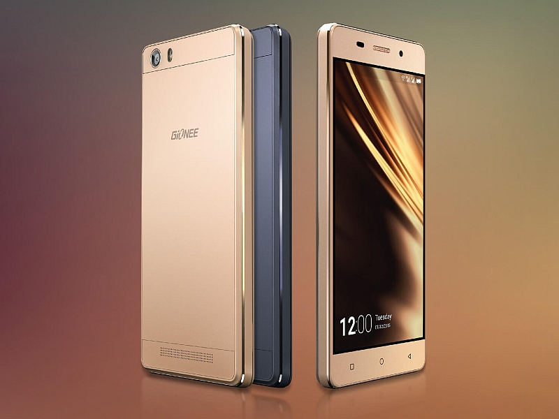 Gionee Marathon M5 gold. source: NDTV Gadgets