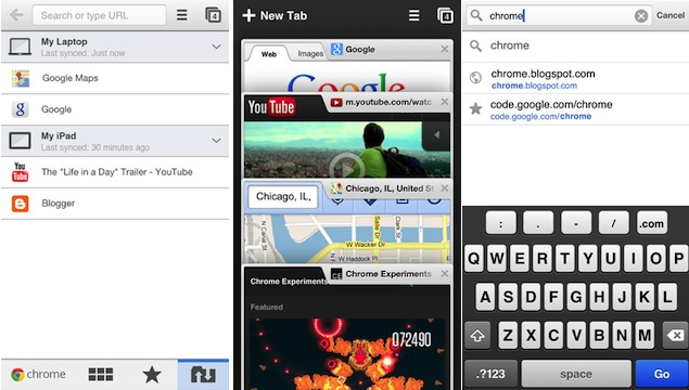 Chrome for iOS update brings data compression, tighter integration with Google services