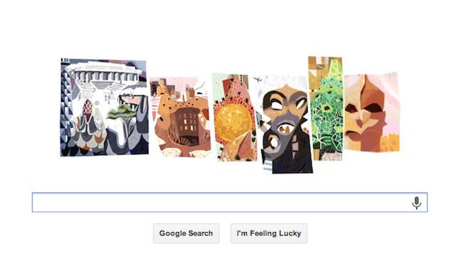 Google doodles Antoni Gaudí's 161st birthday