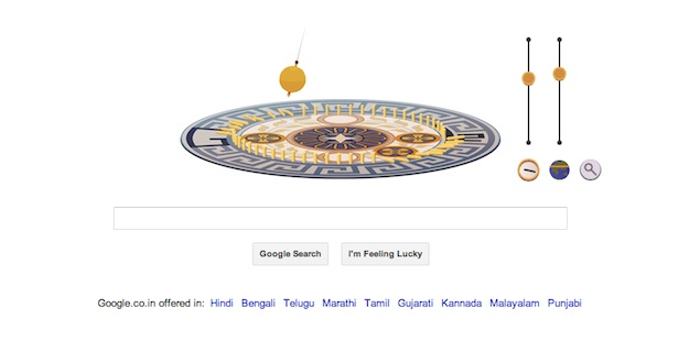Leon Foucault's birthday marked by an interactive Google doodle