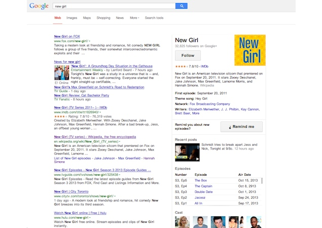Google Search now offers episode and season information for US TV shows