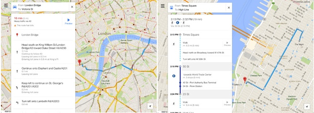 Google Maps for iOS gets an update, offers a dedicated iPad interface