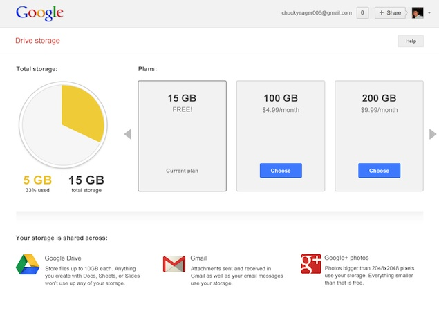 Google unifies cloud storage across Gmail, Drive and Google+, 15GB of free space offered