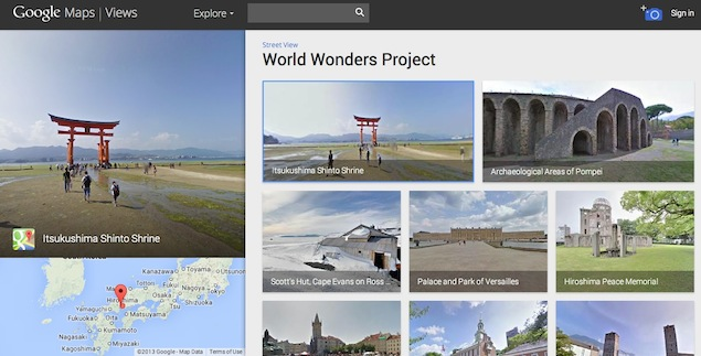 Google Street View to capture panoramic images of 100 Indian heritage sites