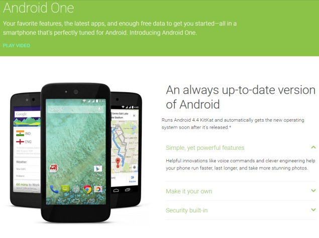 Android One Phones in India to Get Lollipop Update Next Week: Google
