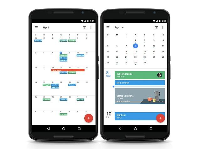 Calendar App Ui : Google calendar for android brings back month view gets