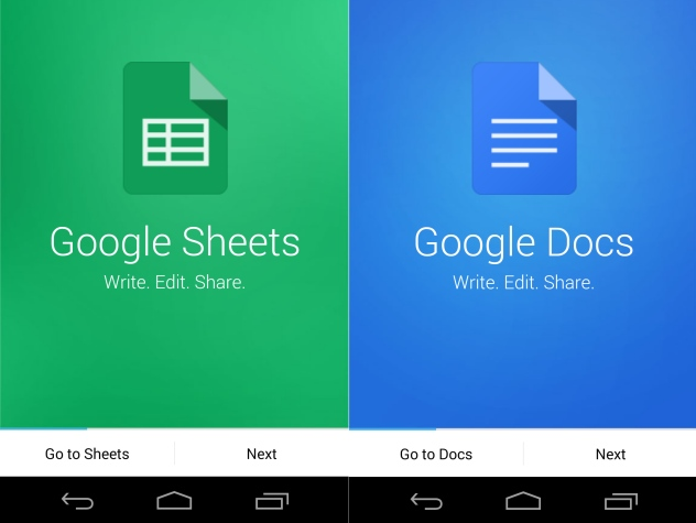 Google docs and sheets apps for android get new design and for Google docs app for windows
