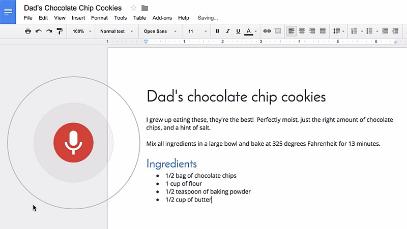 Google Docs Now Lets You Use Voice Commands for Editing