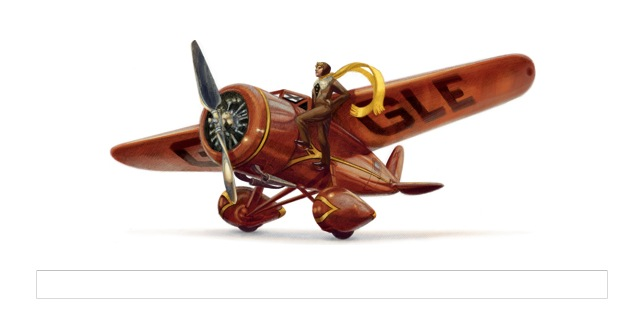 Amelia Earhart's 115th birthday marked by Google doodle