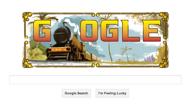 Google doodle features India's first passenger train journey