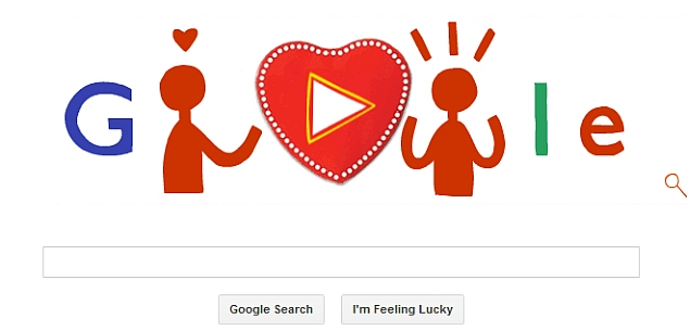 Valentine's Day celebrated with interactive candy box Google doodle