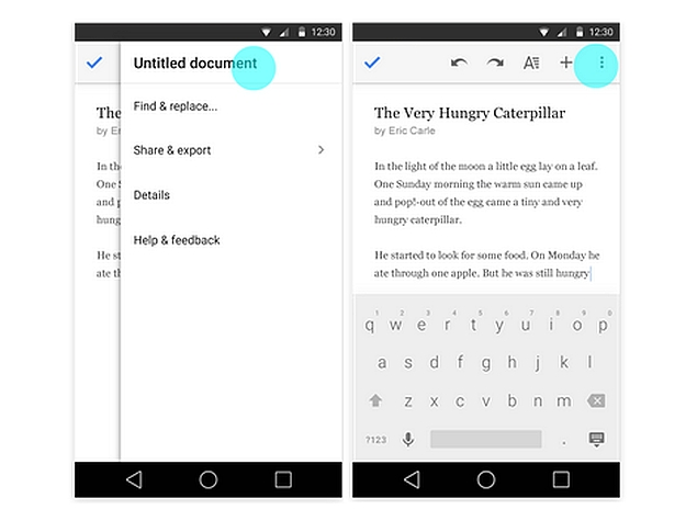 Google Docs, Slides, Sheets for Android Get New Editing Features and More
