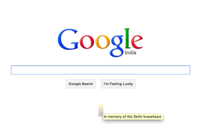 Google pays 'The Delhi braveheart' a tribute on India homepage