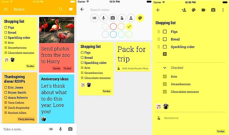 Google Keep Note-Taking App Finally Available for Apple's iOS Platform