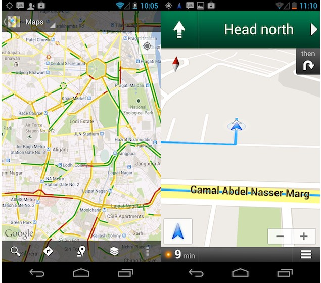 google maps gets live traffic updates navigation in india. Black Bedroom Furniture Sets. Home Design Ideas