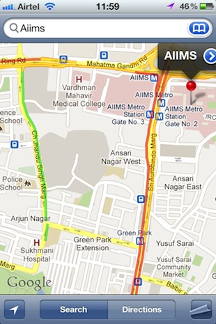 Google maps gets live traffic updates navigation in india googlemapsiostrafficg gumiabroncs