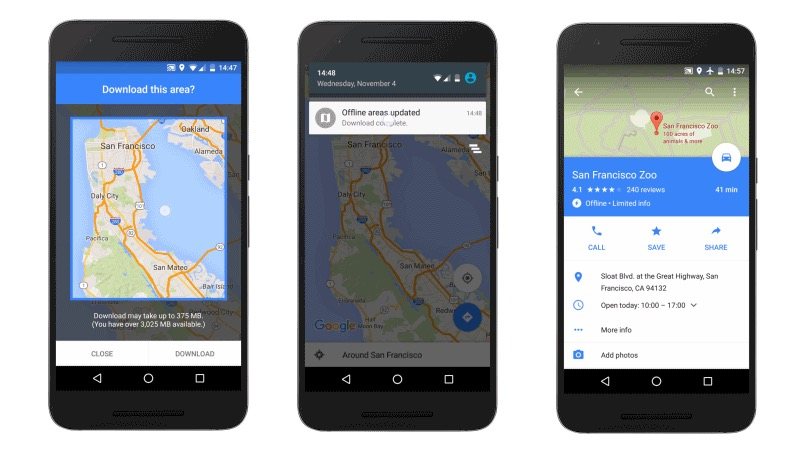 Google Maps for Android Gets Offline Navigation and Search Features