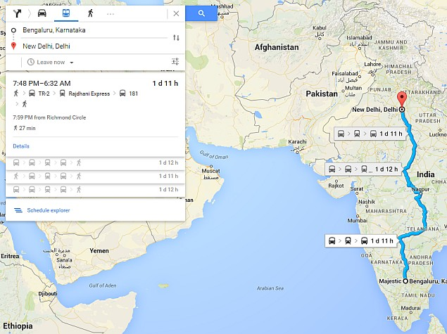 Google Maps Transit Adds Indian Railways Schedules, Updated Bus and Metro Routes for 8 Cities