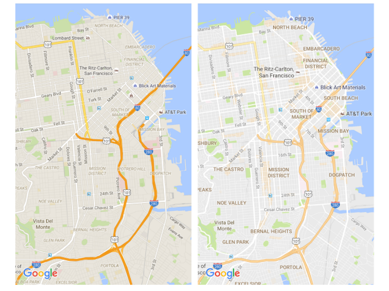 Google Maps Gets a Cleaner Look, Starts Highlighting 'Areas of Interest'