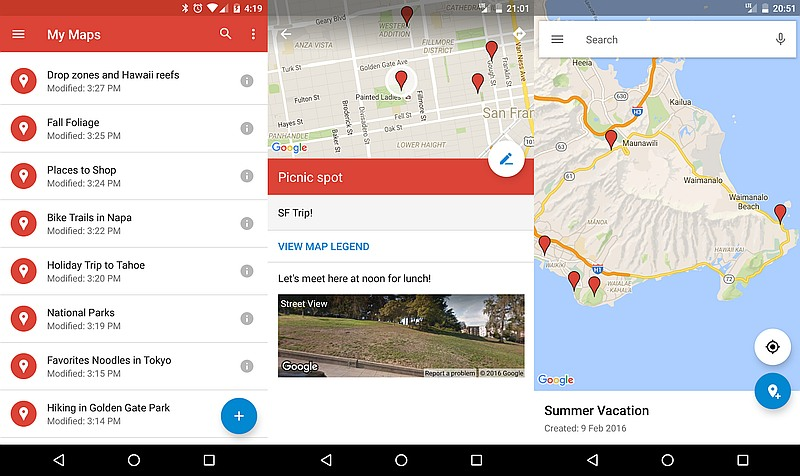 Google My Maps App Receives First Major Update Since 2014 ... on google earth update 2014, google maps updated 2012, google maps street view, google search, google sky,