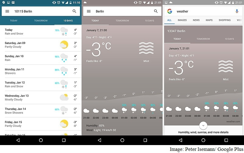 Google Testing More Detailed Weather Card for Google Now: Reports