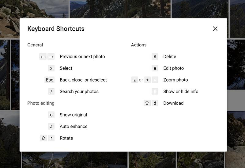 Google Photos for Web Gets Easier Uploading, Keyboard Shortcuts