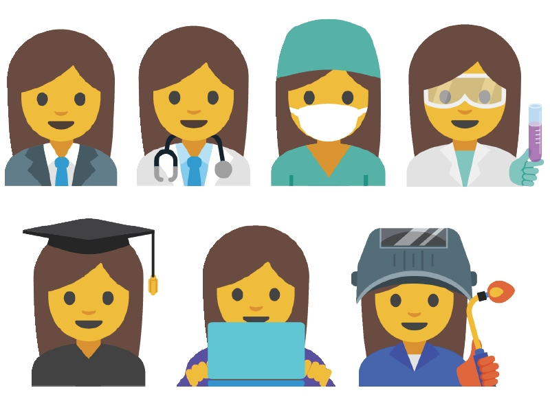 Google Proposes 13 New Emojis Dedicated to Professional Women
