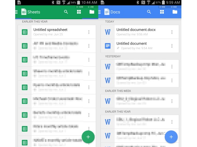 Google Docs and Sheets Apps for Android Get New Design and ...