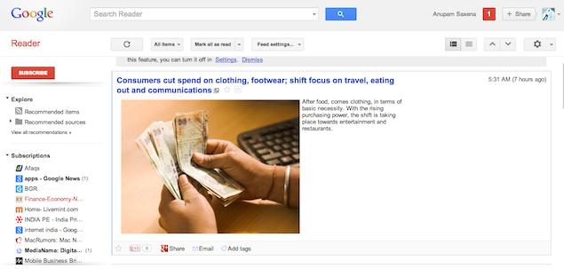 Top 5 alternatives to Google Reader