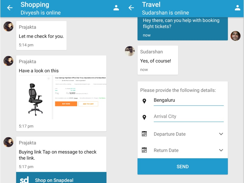 Haptik 3.0 Product Assistant App Brings Task-Based Actionable Messaging
