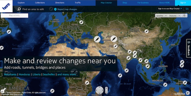 Nokia's HERE launches community mapping program pilot in