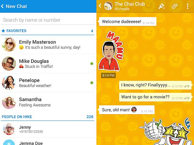 Hike Messenger Targets 100 Million Users by End of 2015