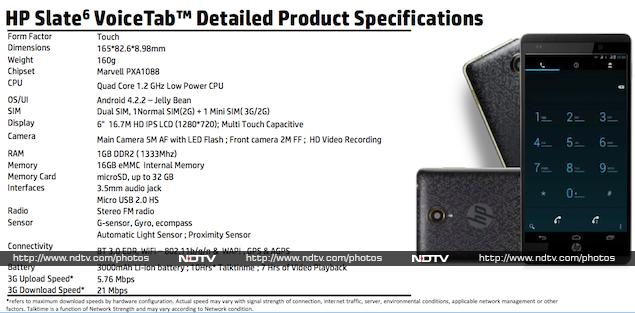 This is the Slate6 VoiceTab that HP will unveil in India on Thursday