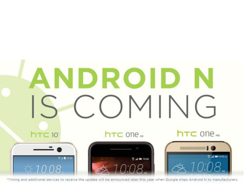 HTC Confirms Android N Update for HTC 10, One A9, and One M9