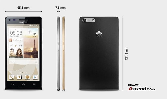 Huawei Ascend P7 mini with 4.5-inch display launched ahead of Ascend P7