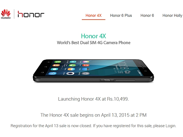 Honor 4X Smartphone to Go on Sale Again on Monday